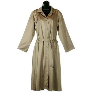 COPY - EATON Vintage Trench Coat Green/Gold Light…